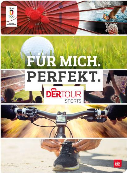 """Titelseite des neuen Katalogs """"Trainingsreisen"""" von Dertour Sports"""