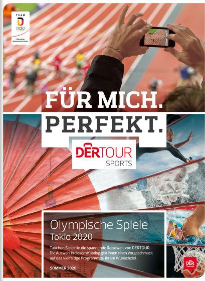 BU: Im Katalog von Dertour Sports finden Olympia-Fans alle wichtigen Informationen rund um die Spiele.