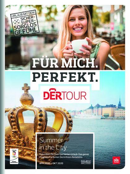 """BU: Der neue Dertour-Sonderkatalog """"Summer in the City"""" mit attraktiven Städtetrips für den Sommer 2020."""
