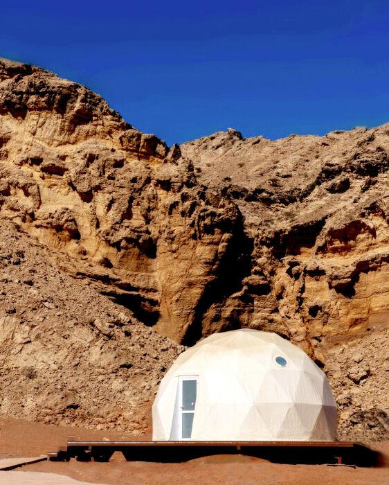 "BU: Das Glamping-Camp ""The Moon Retreat by Mysk"" im Emirat Sharjah."