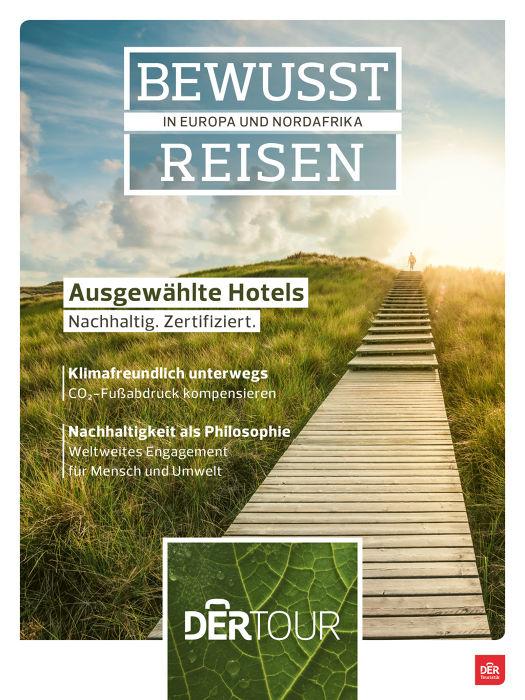 BU: Bewusst Reisen: Neuer Dertour-Katalog mit nachhaltigen Angeboten
